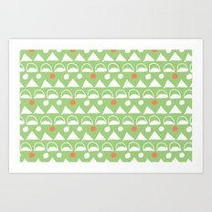 Mod Triangles Art Print
