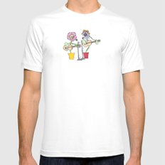 Woodstock Garden SMALL White Mens Fitted Tee