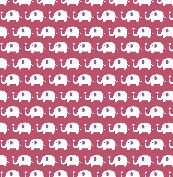 Elephants in love (Plum) Art Print