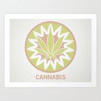 The Cannabis Case. Art Print