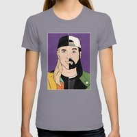 Jay & Silent Bob Womens Fitted Tee Slate SMALL