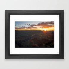 Grand Canyon National Park - Sunrise at South Rim Framed Art Print