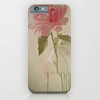 iPhone & iPod Case featuring Peony Flower in Vintage Milk Bottle Botanical Still Life by V. Sanderson / Chickens in the Trees
