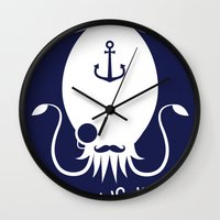 White Logo Wall Clock