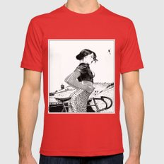 asc 654 L'ascension du Mont Ventoux (The velociraptor revealed) Mens Fitted Tee Red SMALL