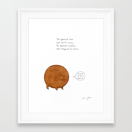 the spherical bear Framed Art Print