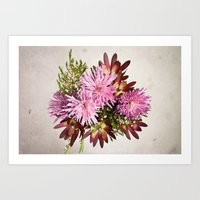 Birthday flowers Art Print