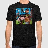 the TRAIN has LEFT THE STATION Mens Fitted Tee Tri-Black SMALL