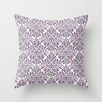 Damask Nature Pink Throw Pillow