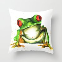 TreeFrog Throw Pillow