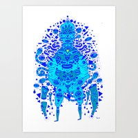 Igen Igen Blue Art Print