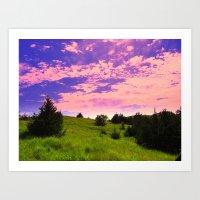 Fairytale Sunset Art Print