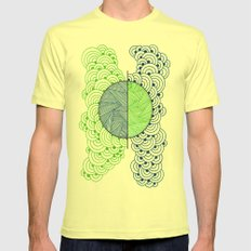 Shape 2 Mens Fitted Tee Lemon SMALL