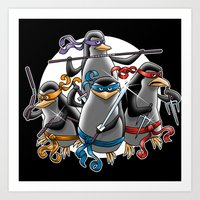 Ninja Penguins Art Print