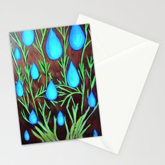 Raindrops/abstract Stationery Cards