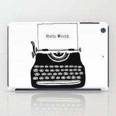 Hello World. iPad Case