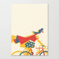 Superheroes SF Canvas Print