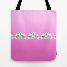 fuchsia lotus Tote Bag
