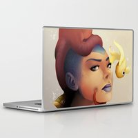 the little mermaid Laptop & iPad Skins featuring Little Mermaid by hyrenee