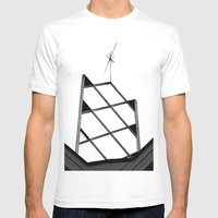Atomic Age Bowling Mens Fitted Tee White SMALL