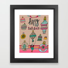 Holiday Ornaments Galore.  Framed Art Print
