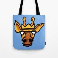 king giraffe Tote Bag