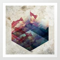 Red and Blue Art Print