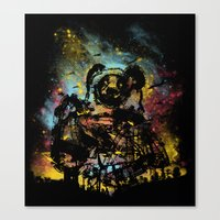 giant panda bot attack Canvas Print