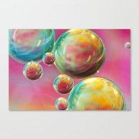 Tropical Feather Bubble … Canvas Print