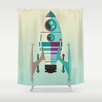 Rocket X Shower Curtain