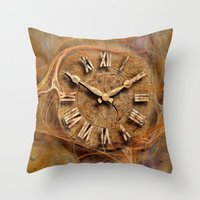 Tempus fugit ! Throw Pillow