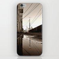 Alleyway reflection iPhone & iPod Skin