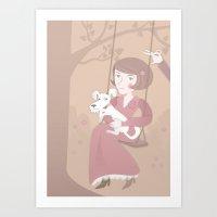 Lovely Swing Art Print