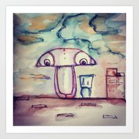 The Roof View  Art Print