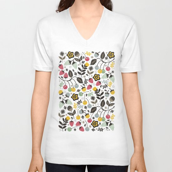 Very Berry V-neck T-shirt