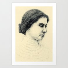 Hellen Keller in ink Art Print