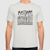 Amsterdam Mens Fitted Tee Silver SMALL