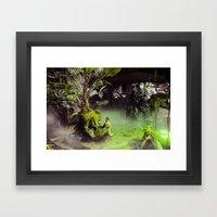 Fog // Moss. Framed Art Print