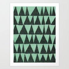 Analogous Shapes. Art Print