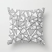 Abstract Spots Throw Pillow