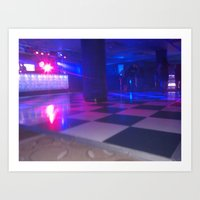 Dance Floor Chessboard Art Print