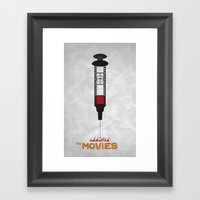 Addicted: Movies Framed Art Print