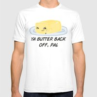 Sour food puns - Butter Mens Fitted Tee White SMALL