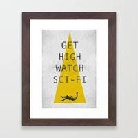 watch sci-fi Framed Art Print