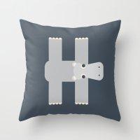 Letter H // Animal Alpha… Throw Pillow