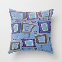 Newport Blue Throw Pillow