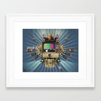 The  Television Will Not… Framed Art Print