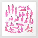 Naked Ladies Art Print