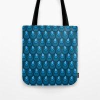 Blue Vintage Feather Pat… Tote Bag