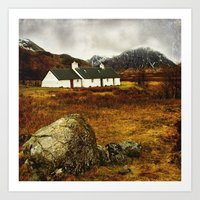 Blackrock Cottage Glencoe Scotland Art Print